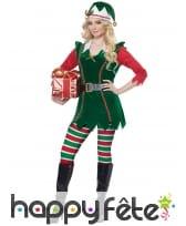 Costume de lutin de Noël pour femme