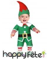 Costume de lutin du Père Noël pour bébé