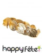 Couronne de laurier dorée en tissu