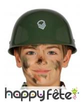 Casque de militaire vert pour enfant