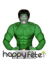 Chemise de muscles verts pour adulte