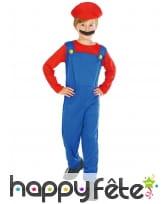 Combinaison de Mario pour enfant