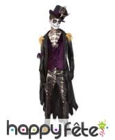Costume de maître vaudou noir et violet pour homme, image 1