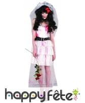 Costume de mariée zombie taché de sang, image 1