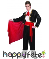Costume de matador noir et rouge, image 3