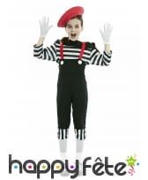 Costume de mime pour fille