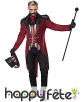 Costume de Monsieur Loyal sinistre pour adulte, image 1