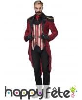 Costume de Monsieur Loyal sinistre pour adulte, image 2