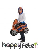 Costume de moto de course pour adulte
