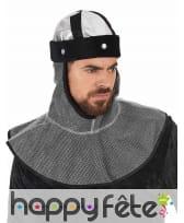 Cotte de mailles et casque de chevalier adulte, image 1