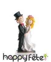 Couple de marié pour gâteau, en PVC