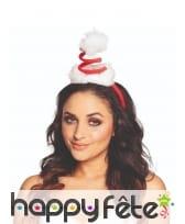 Chapeau de Noël en spirale pour adulte