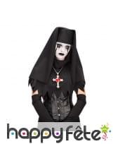 Coiffe de nonne noir intégral