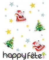 Confettis de Noël cartonnés de 3cm