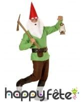 Costume de nain vert pour homme