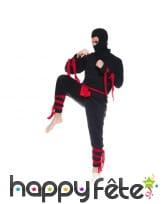 Costume de ninja noir pour adulte