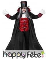 Costume de noble vampire rouge et noir, adulte, image 1