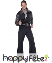 Costume disco noir argenté pour homme, image 1