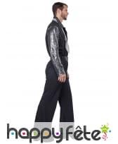 Costume disco noir argenté pour homme, image 2