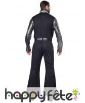 Costume disco noir argenté pour homme, image 3