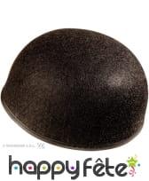 Calot de pierrot noir sans pompon