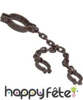 Chaîne de prisonnier avec bracelets, en plastique