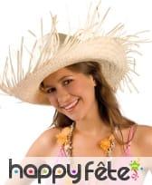 Chapeau de paille Hawaïen uni