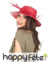 Chapeau de paille vintage coloré, image 1