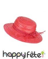 Chapeau de paille vintage coloré, image 2