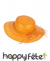Chapeau de paille vintage coloré, image 3