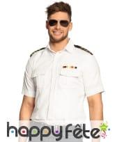 Chemise de pilote d'avion blanche