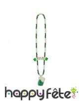 Collier de perles avec shooter Saint Patrick