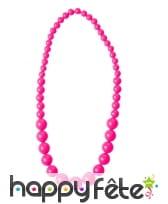 Collier de perles grossissantes fluo, image 1