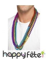 Collier de perles multiclores