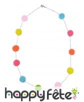 Collier de pompon colorés pour enfant