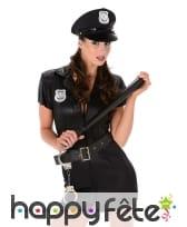 Combi de policière courte en simili noir, image 1