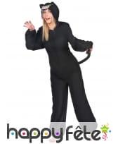 Combinaison de panthère noire avec capuche, femme, image 1