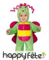Combinaison de papillon pour bébé vert et rose