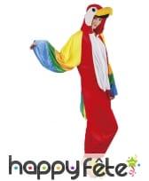 Combinaison de perroquet coloré pour adulte