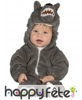 Combinaison de petit loup gris pour bébé