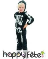 Combinaison de petit squelette pour garçon