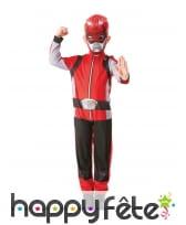 Combinaison de Power Rangers rouge pour enfant, image 3