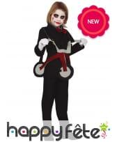 Costume de pantin tueur sur tricyle, pour enfant