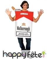 Costume de paquet de cigarette