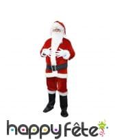 Costume de père Noël en velour