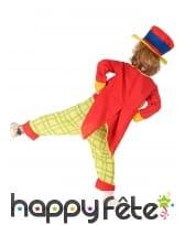 Costume de petit clown rouge et jaune, image 2