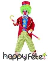 Costume de petit clown rouge et jaune, image 3