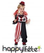 Costume de petit clown rouge et noir, image 1