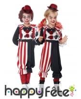 Costume de petit clown rouge et noir, image 2