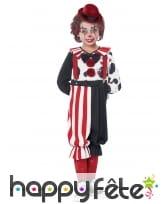 Costume de petit clown rouge et noir